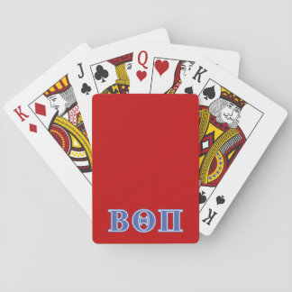 Beta Theta Pi Blue Letters Playing Cards