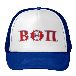 Beta Theta Pi Red and Blue Letters Trucker Hats