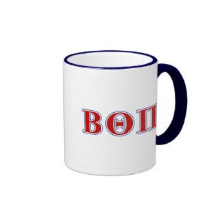 Beta Theta Pi Red and Blue Letters Mug