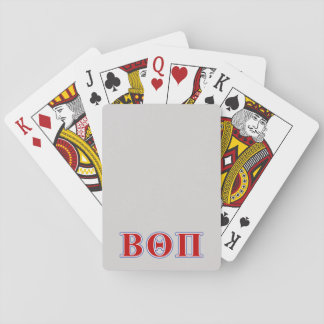 Beta Theta Pi Red and Blue Letters Playing Cards