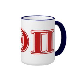 Beta Theta Pi Red Letters Mugs