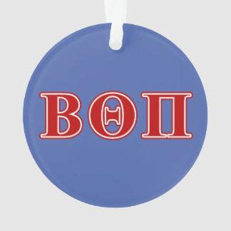 Beta Theta Pi Red Letters Ornament