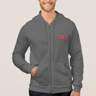 Beta Theta Pi Red Letters Hooded Sweatshirt