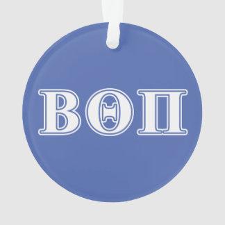 Beta Theta Pi White and Blue Letters Ornament