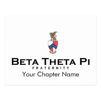 Beta Theta Pi with Crest - Color Postcard