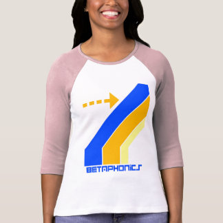 betaphonics logo womens baseball-t tshirt
