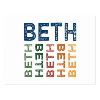 Beth Cute Colorful Postcard