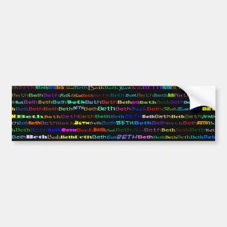 Beth Text Design I Bumper Sticker
