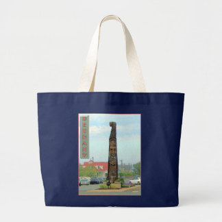 Bethany Totem Pole Beach Tote Bags