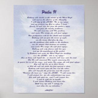 Bethany's refuge Psalm 91 NIV Poster