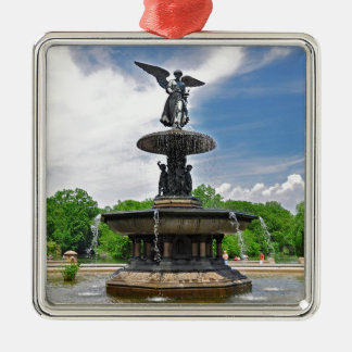 """Bethesda """"Angel of the Waters"""" Central Park, NYC Metal Ornament"""