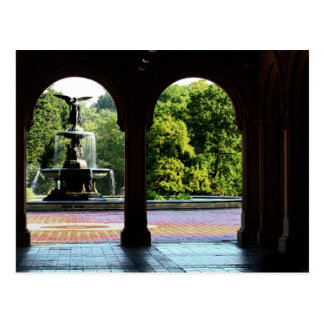 Bethesda Fountain in Central Park Photo Postcard