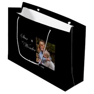 Bethlehem Star of Wonder Family Photo Template Large Gift Bag