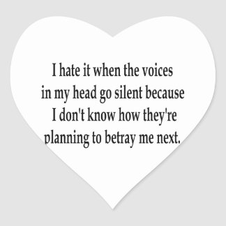 Betraying Voices Heart Stickers