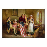 Betsy Ross and General George Washington
