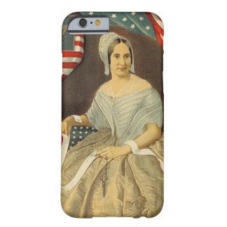 Betsy Ross First American Flag Vintage Portrait US Barely There iPhone 6 Case