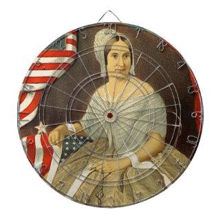 Betsy Ross First American Flag Vintage Portrait US Dartboard