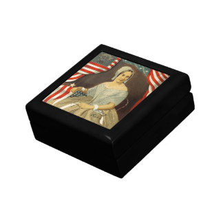 Betsy Ross First American Flag Vintage Portrait US Gift Box