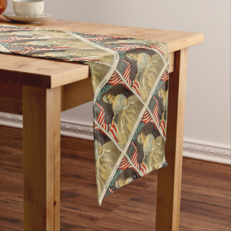 Betsy Ross First American Flag Vintage Portrait US Long Table Runner