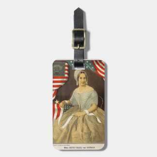 Betsy Ross First American Flag Vintage Portrait US Luggage Tag