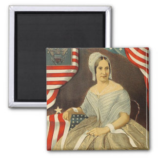 Betsy Ross First American Flag Vintage Portrait US Magnet