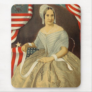 Betsy Ross First American Flag Vintage Portrait US Mouse Pad
