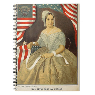 Betsy Ross First American Flag Vintage Portrait US Notebook