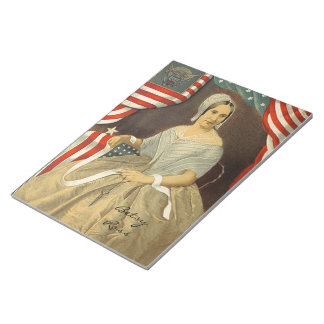 Betsy Ross First American Flag Vintage Portrait US Notepad