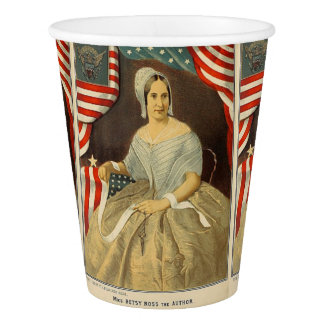 Betsy Ross First American Flag Vintage Portrait US Paper Cup