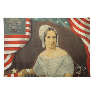 Betsy Ross First American Flag Vintage Portrait US Placemat