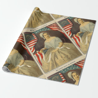 Betsy Ross First American Flag Vintage Portrait US Wrapping Paper