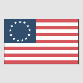 Betsy Ross Rectangular Sticker