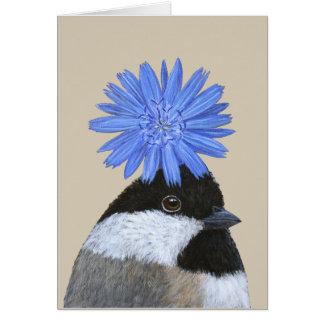 Betsy the chickadee card