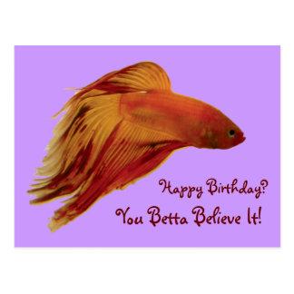 Betta - Birthday Postcard