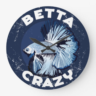 Betta Crazy - Handy Wall Clock