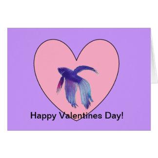 Betta Fish Valentine's Card