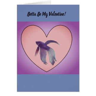 Betta Valentine card