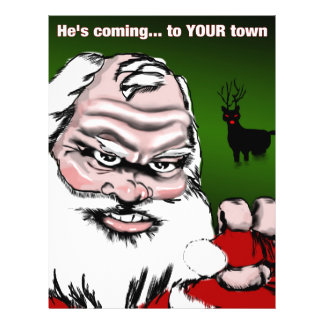 Betta Watch Out: Santa Claus Poster Flyers