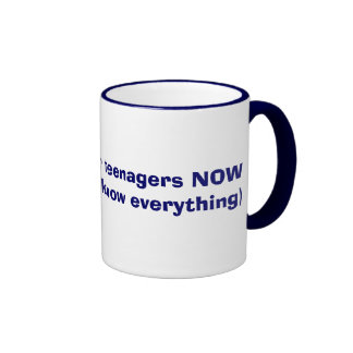Better ask your teenagers NOW Ringer Mug