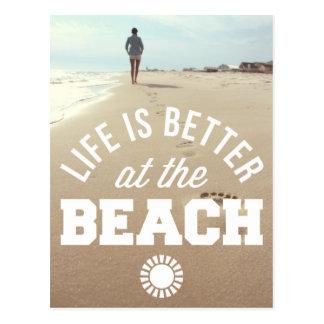 Better At The Beach Postcard