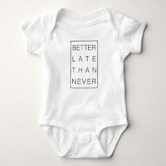 Better late than never baby bodysuit