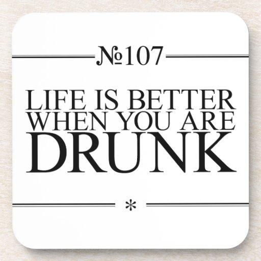 Better Life Drunk Beverage Coaster