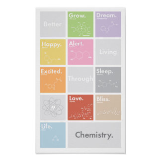 Better Living Through Chemistry Poster posters