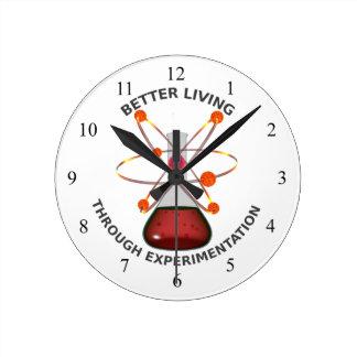 Better Living Through Experimentation Round Clock
