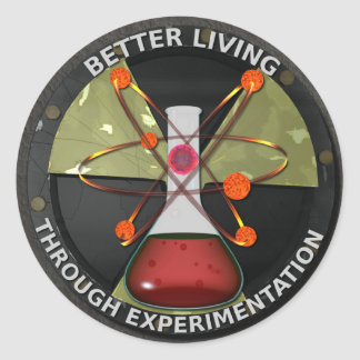 Better Living Through Experimentation Version 3 Classic Round Sticker