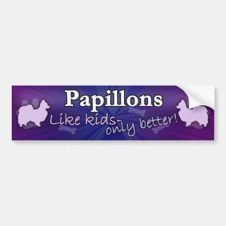 Better than Kids Papillon Bumper Sticker