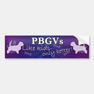 Better than Kids PBGV Bumper Sticker