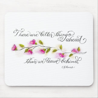 Better things ahead CS Lewis inspirational quote Mouse Pad