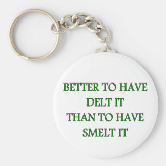 BETTER TO HAVE DELT IT BASIC ROUND BUTTON KEY RING