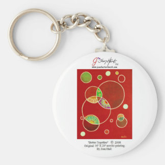 Better Together Basic Round Button Key Ring